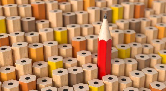 3d Bleistift herausstechen